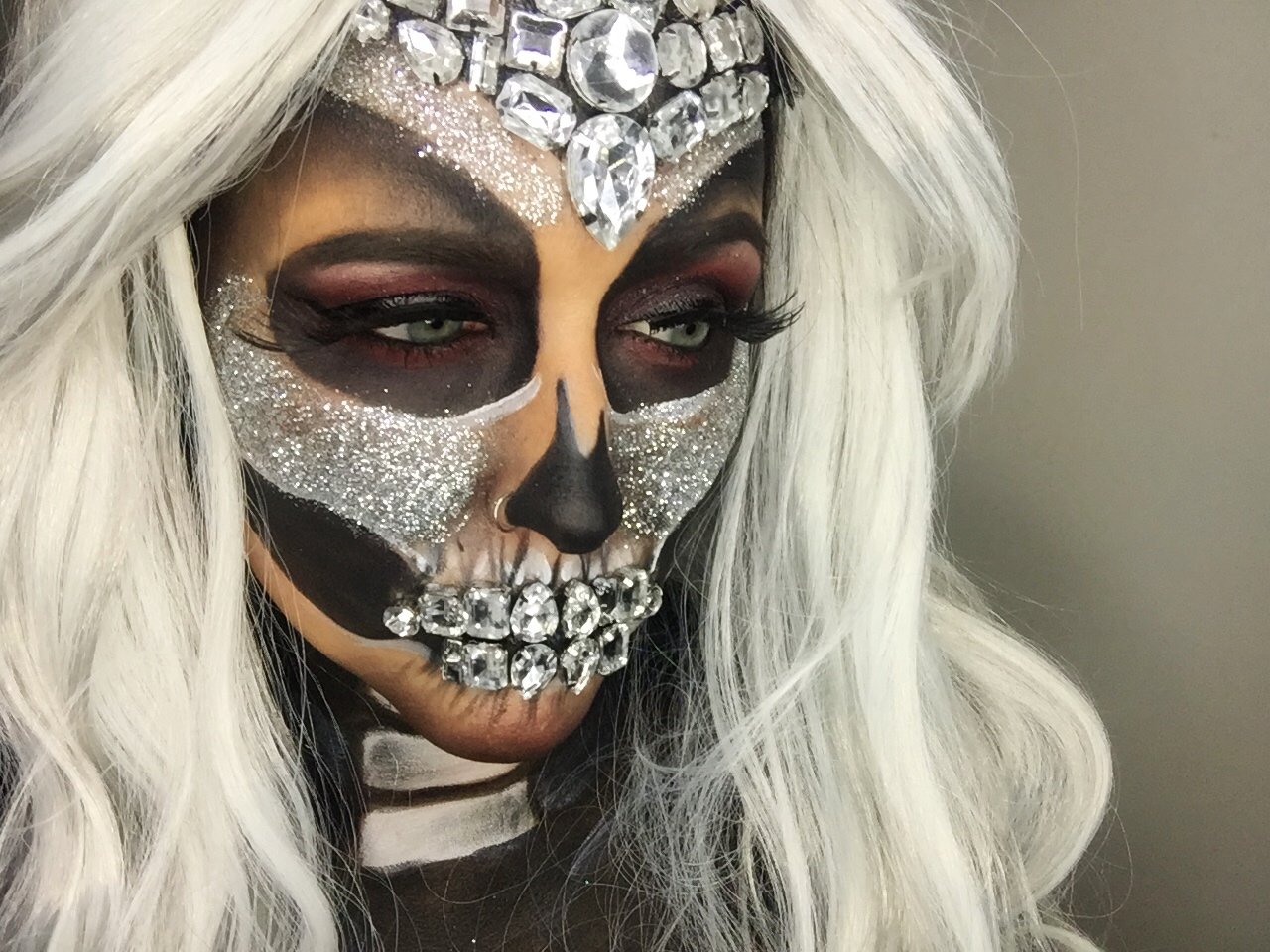 Jeweled Skull Makeup