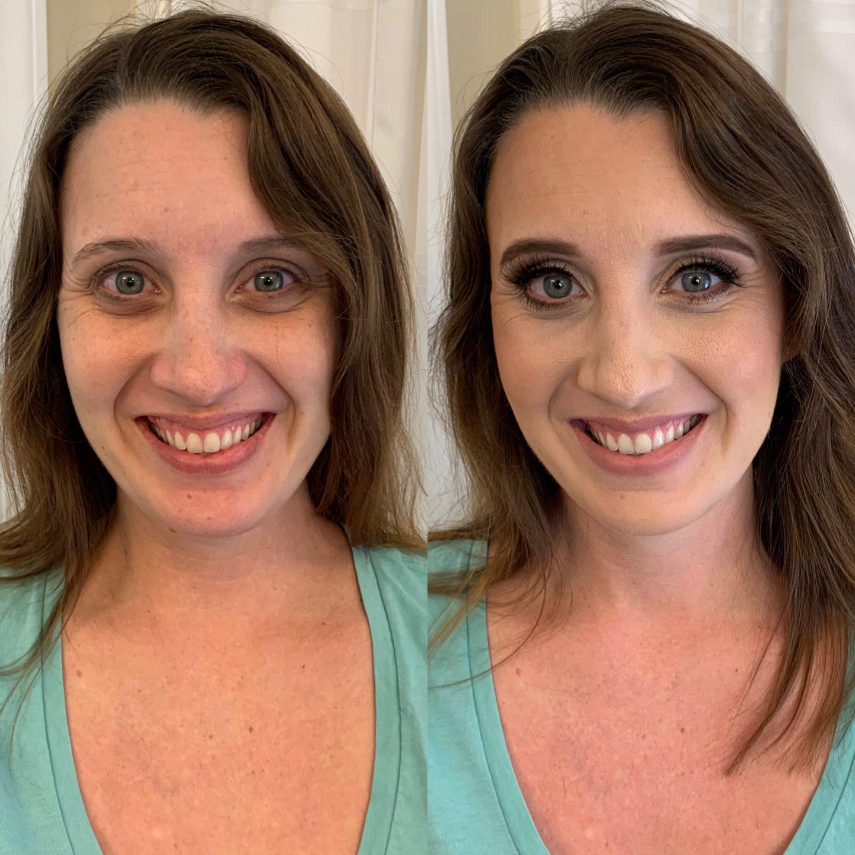 Porcelain and Pink airbrush makeup